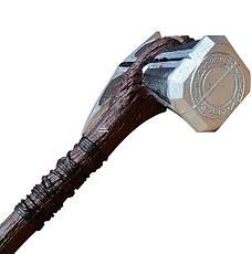 Молот Тора 73см!!! Топор Громобой, Громсекира Мстители Война бесконечности (игрушечный топор 1:1) штормбрейкер, фото 2