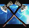 Молот Тора 73см!!! Топор Громобой, Громсекира Мстители Война бесконечности (игрушечный топор 1:1) штормбрейкер, фото 5