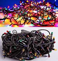Новогодняя Внутренняя Гирлянда Нить на Елку 300 Лампочек Разноцветная