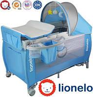 Ліжечко туристичне Lionelo Sven Plus Blue, фото 1