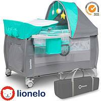 Кроватка-манеж Lionelo Sven Plus Turquoise, фото 1