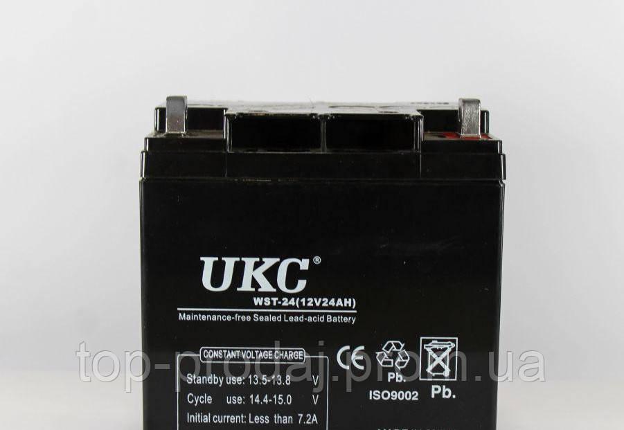 Универсальный аккумулятор UKC,Аккумулятор BATTERY 12V 24A, Аккумуляторная батарея свинцово-кислотная