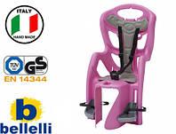Велокрісло Bellelli Pepe Італія на багажник Фіолетове, фото 1