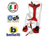 Велокрісло Bellelli Pepe Італія на багажник Біле, фото 1