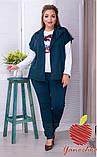 Женский костюм двойка кардиган и штаны с лампасами трикотаж двухнить размер: 58-60, фото 3