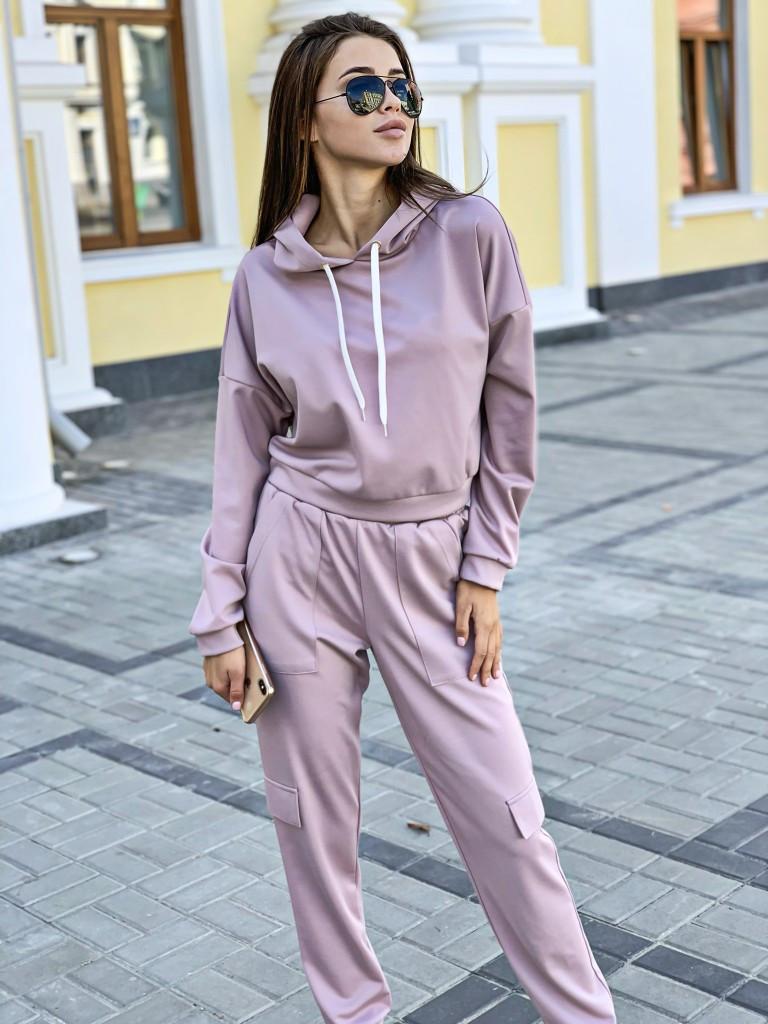 Женский свободный спортивный костюм с укороченным худи 34spt762