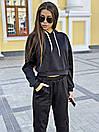 Женский свободный спортивный костюм с укороченным худи 34spt762, фото 2