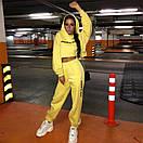 Женский трикотажный спортивный костюм с укороченным свободным худи 65spt763, фото 3