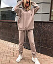 Женский свободный утепленный спортивный костюм с худи 71spt765, фото 2