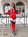 Женский спортивный костюм из плащевки с мастеркой на молнии 36spt768, фото 2
