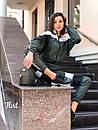 Женский спортивный костюм из плащевки с мастеркой на молнии 36spt768, фото 3