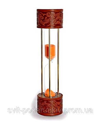 Песочные часы с кожей - оригинальный подарок, фото 2