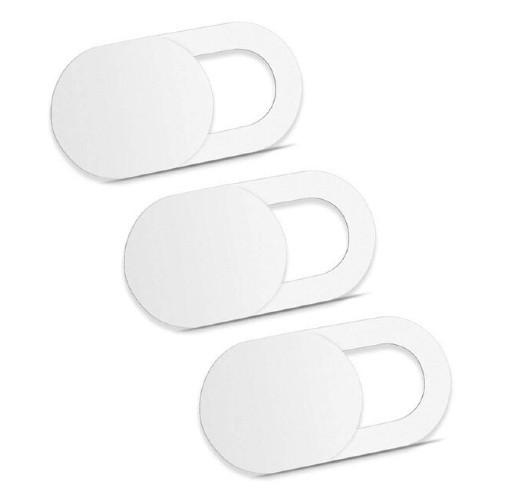 Комплект из трех шторок для фронтальной веб-камеры (Белые)