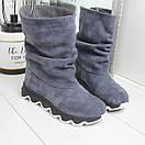 Натуральные замшевые женские ботинки демисезонные  74OB49, фото 2