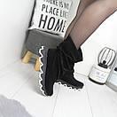 Натуральные замшевые женские ботинки демисезонные  74OB49, фото 3