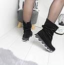 Натуральные замшевые женские ботинки демисезонные  74OB49, фото 5