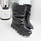 Кожаные женские ботинки на утеплителе широкие 74OB50, фото 2
