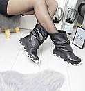 Кожаные женские ботинки на утеплителе широкие 74OB50, фото 3