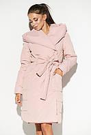 Женское осеннее стеганое пальто с капюшоном, фото 1