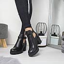 Женские ботинки на небольшом каблуке из экозамши 74OB53, фото 3