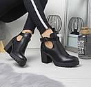 Женские ботинки на небольшом каблуке из экозамши 74OB53, фото 4