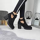 Женские ботинки на небольшом каблуке из экозамши 74OB53, фото 7