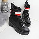 Женские демисезонные ботинки с лаковыми вставками 74OB58, фото 2