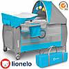 Кроватка-манеж Lionelo Sven Plus Grey-Blue