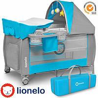 Кроватка-манеж Lionelo Sven Plus Grey-Blue, фото 1