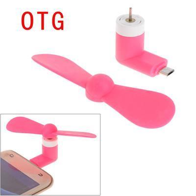 Мини OTG вентилятор для Android. Розовый