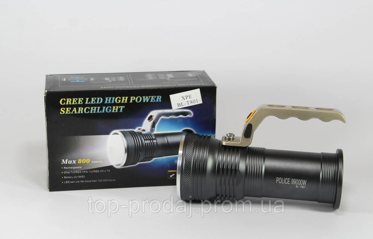 Фонарик BL T801 +  ZOOM, Тактический фонарик прожектор, Фонарик Bailong, Светодиодный фонарь, Ручной фонарь