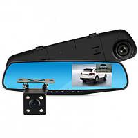 Автомобильный видеорегистратор-зеркало VEHICLE BLACKBOX DVR с двумя камерами, 4.3'',   1080p Full HD