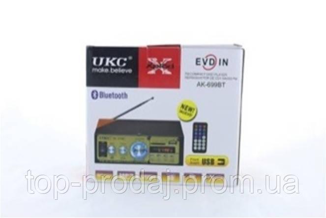 Усилитель AMP 699 BT UKC, Стереоусилитель с Bluetooth, Усилитель звука, Усилитель мощности звука