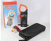 Мультиметр DT 266, Цифровой мультиметр тестер, Токоизмерительные клещи, Токовые цифровые клещи