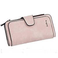 Кошелек Baellerry N2345 PINK, Женский кошелек клатч, Замшевый кошелек портмоне женское, Кошелек для девушки