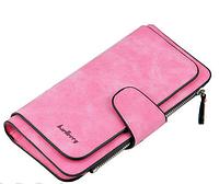 Кошелек Baellerry N2345 MALINA, Замшевый кошелек портмоне женское, Клатч кошелек женский, Бумажник женский