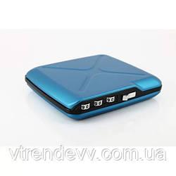 Бумажник OGON Mini Safe Alu с блокировкой Original  голубой