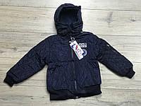 Демисезонная куртка на синтепоне, со съемным капюшоном. Внутри флис. 1- 4 года.