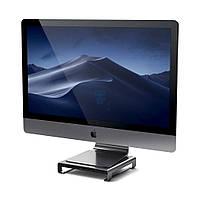 Алюминиевая подставка / порт-репликатор для iMac, Satechi Type-C Aluminum Monitor Stand Hub Space Gray - цвет «Серый космос» (SD / microSD CardReader;