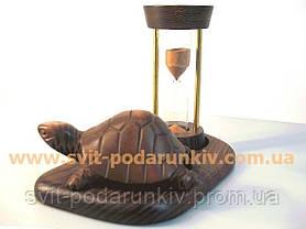 Песочные часы со статуэткой черепаха, оригинальный подарок, фото 3