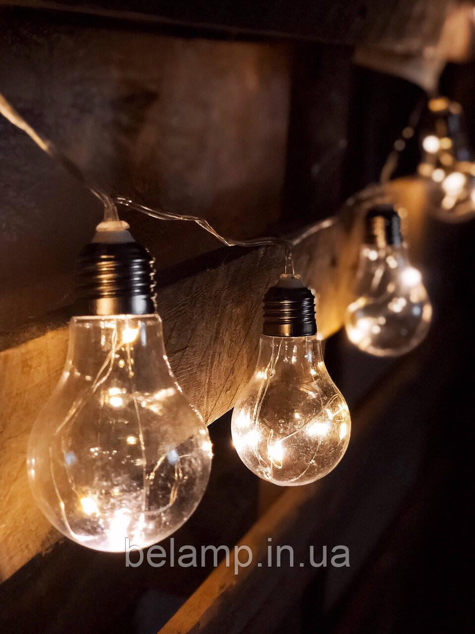 """Новогодняя Гирлянда из лампочек  на батарейках  """"Волшебные лампочки"""""""