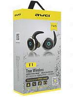Наушники MDR T1 + BT Awei, Стереогарнитура беспроводная, Гарнитура с встроенным микрофоном, Наушники блютуз