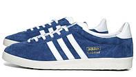 Женские кроссовки Adidas Gazelle синие, фото 1