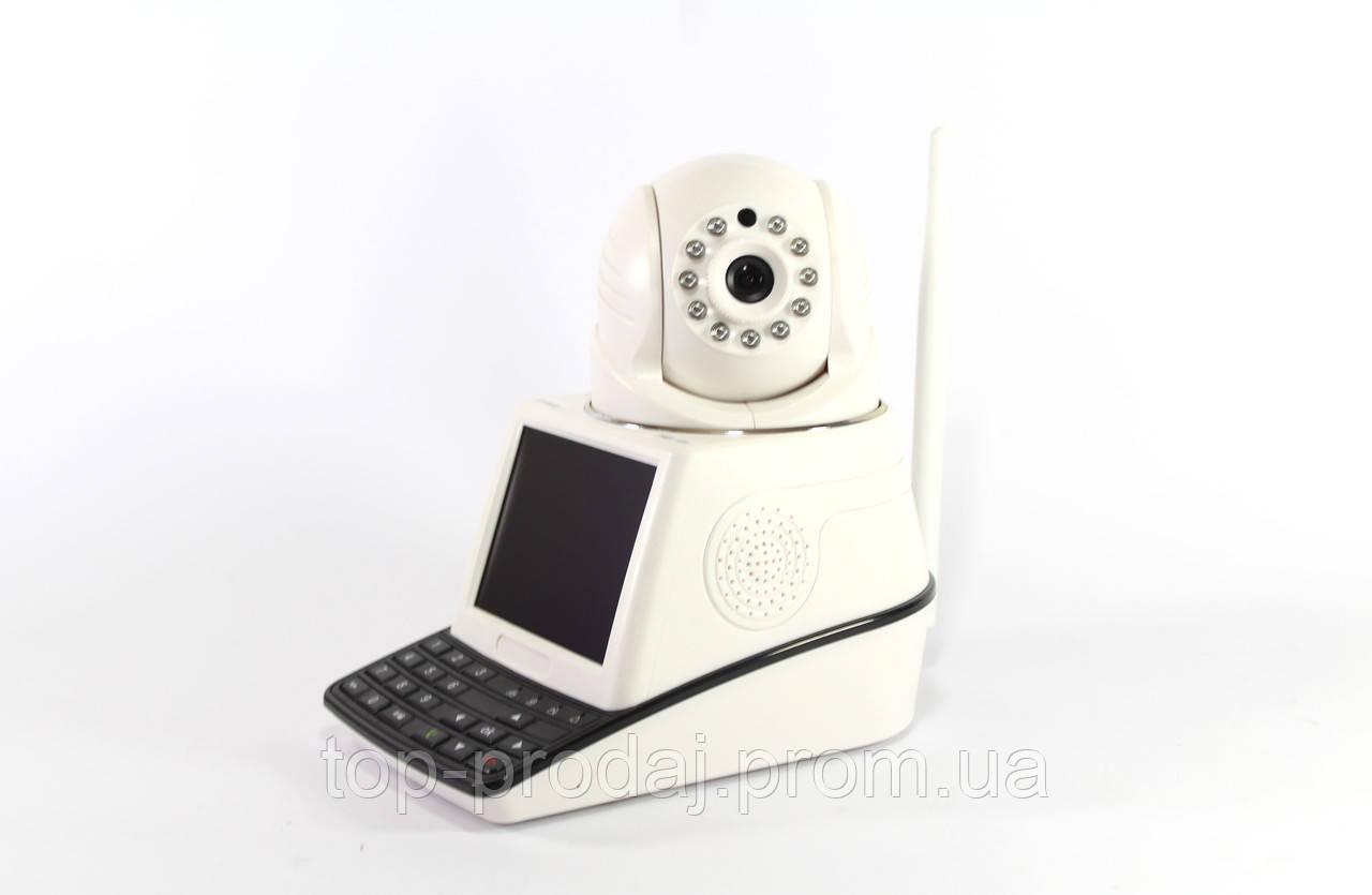 Камера с экраном NET CAMERA, Поворотная камера видеонаблюдения 4 в 1 с экраном, Датчик движения