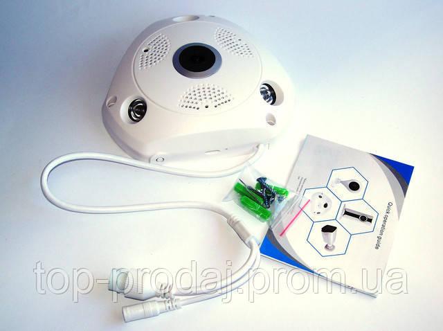Камера потолочная CAMERA CAD 1317 VR 1.3mp\360*\dvr\ip, Мегапиксельная IP камера, Внутренняя|наружная камера