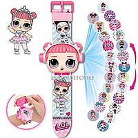 Проекционные детские часы Кукла ЛОЛ LOL - 24 вида изображения героев .Projector Watch. Отличный Подарок !