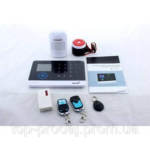 Сигнализация для дома GSM+WIFI JYX G600, Сигнализация  с датчиком движения, Охранная система для дома