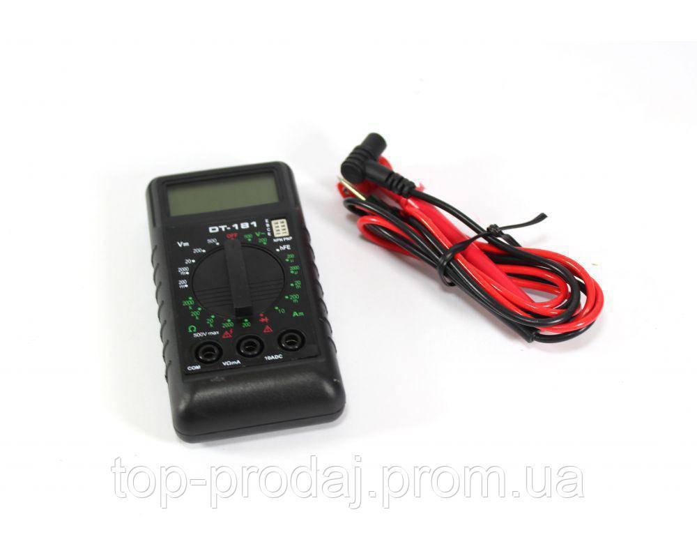 Мультиметр DT 181, Цифровой мультиметр, Компактный измеритель тока, напряжения , Тестер, Мини мультиметр