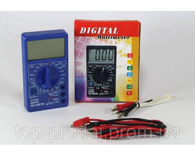 Мультиметр DT 700C (со звуком+температура), Измерительное устройство, Цифровой мультиметр, Тестер измеритель