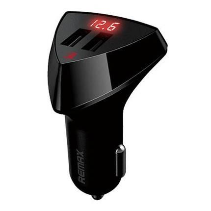 Автомобільний зарядний пристрій Remax RCC208 LED 3.4 A (2 USB-порта), фото 2